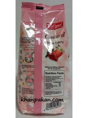 Rafhan Custard - Strawberry 300 Gm